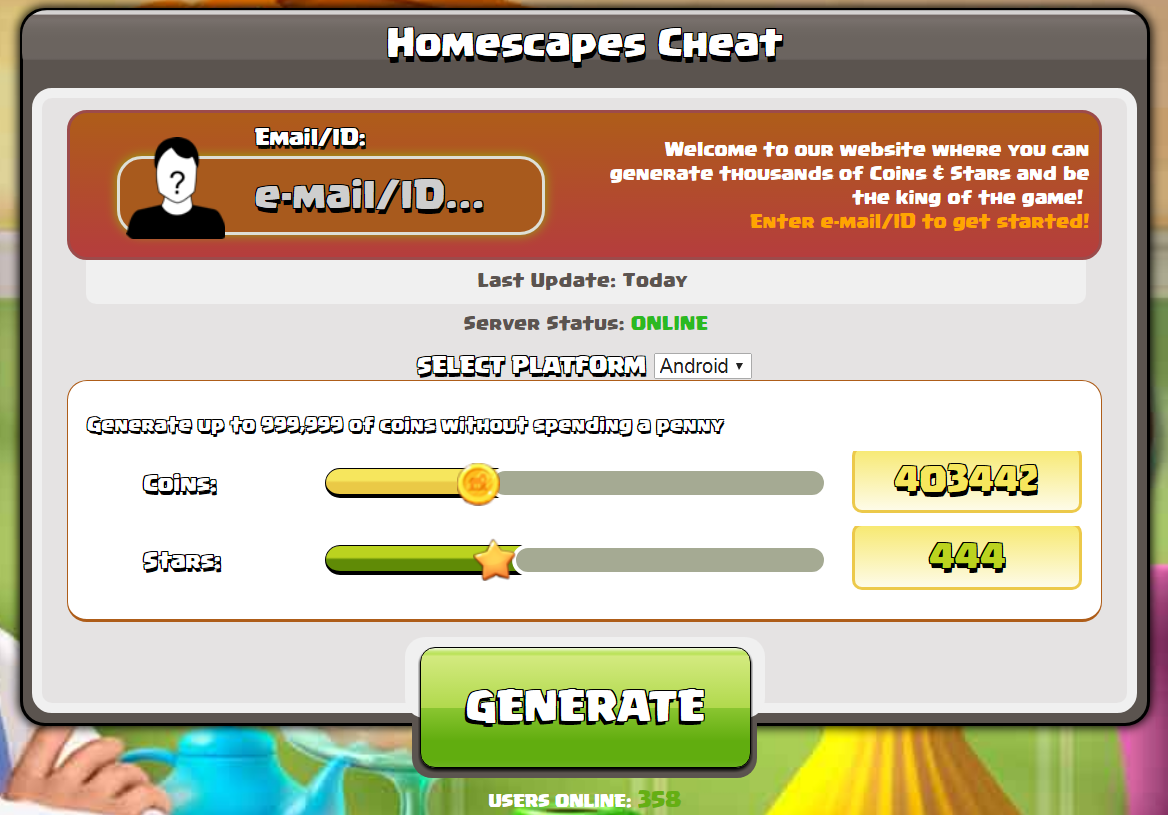 homescapes cheats